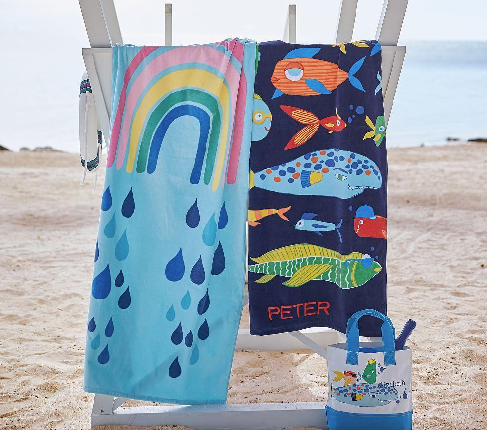 Funny Fish Beach Towel
