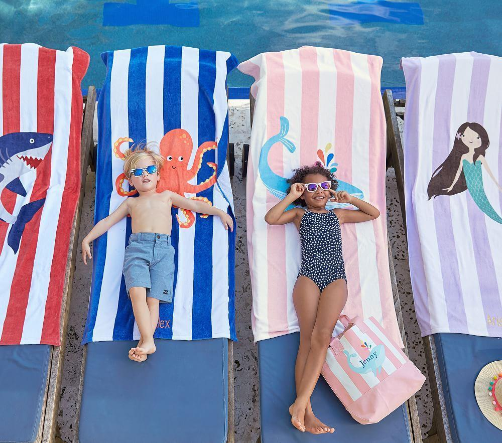 Octopus Stripe Beach Towel