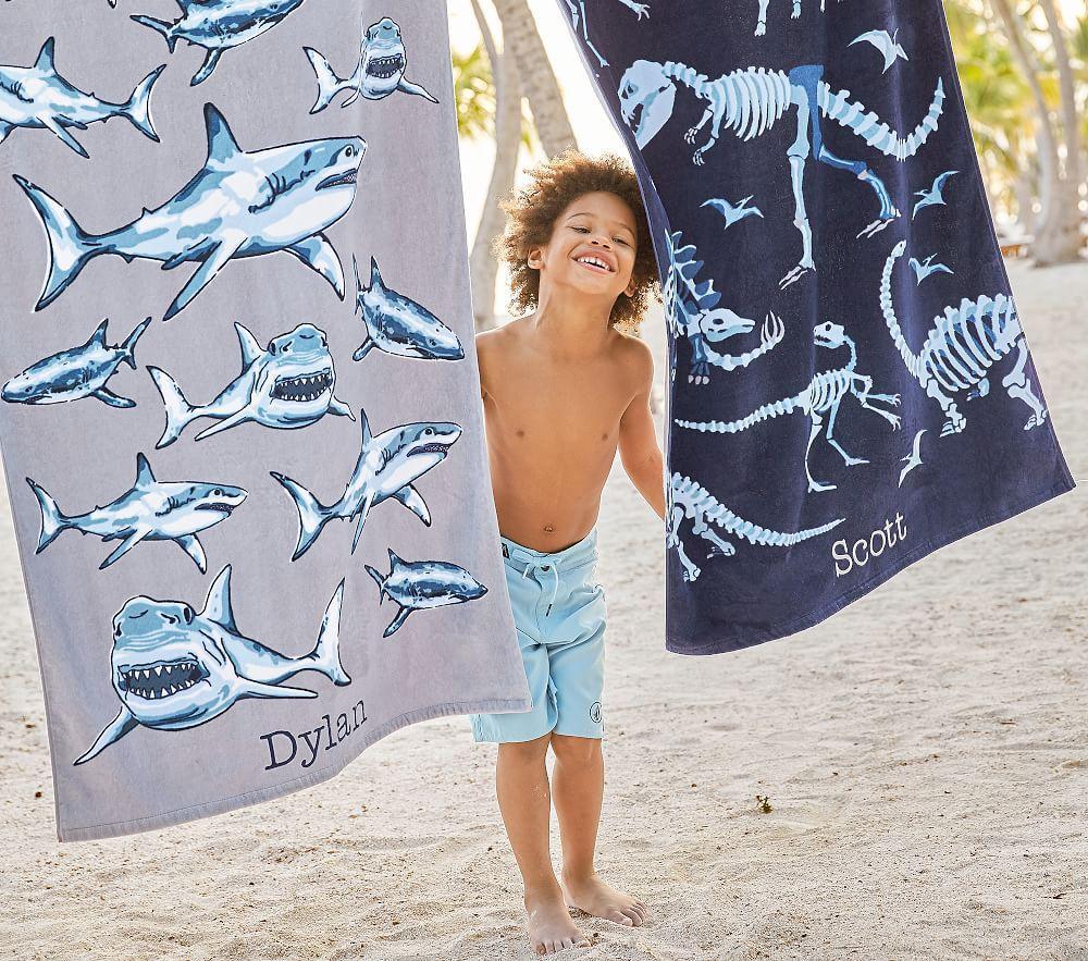 Shark Frenzy Beach Towel