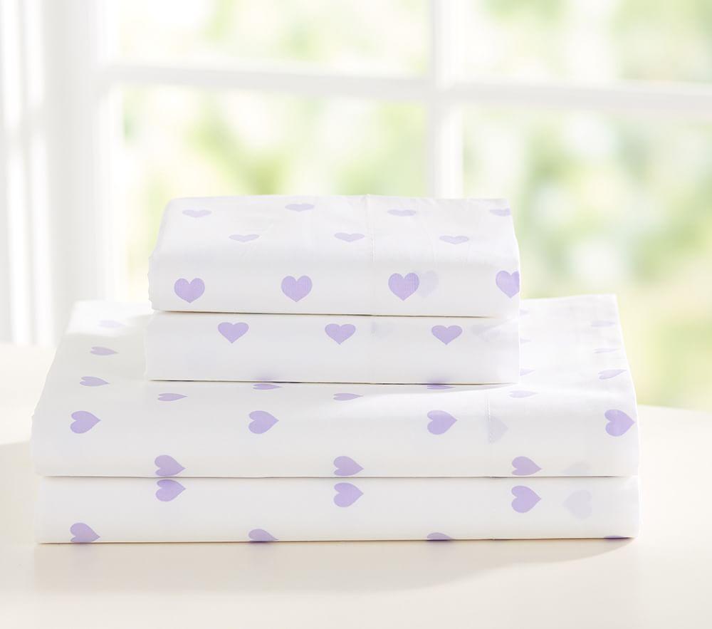Heart Sheet Set - Lavender
