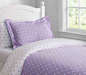 Heart Quilt Cover - Lavender