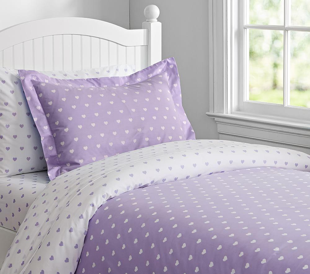 Heart Quilt Cover Lavender Pottery Barn Kids Au