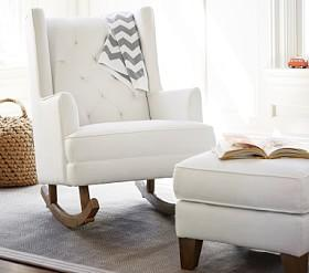 Nursery Chairs And Ottomans Pottery Barn Kids