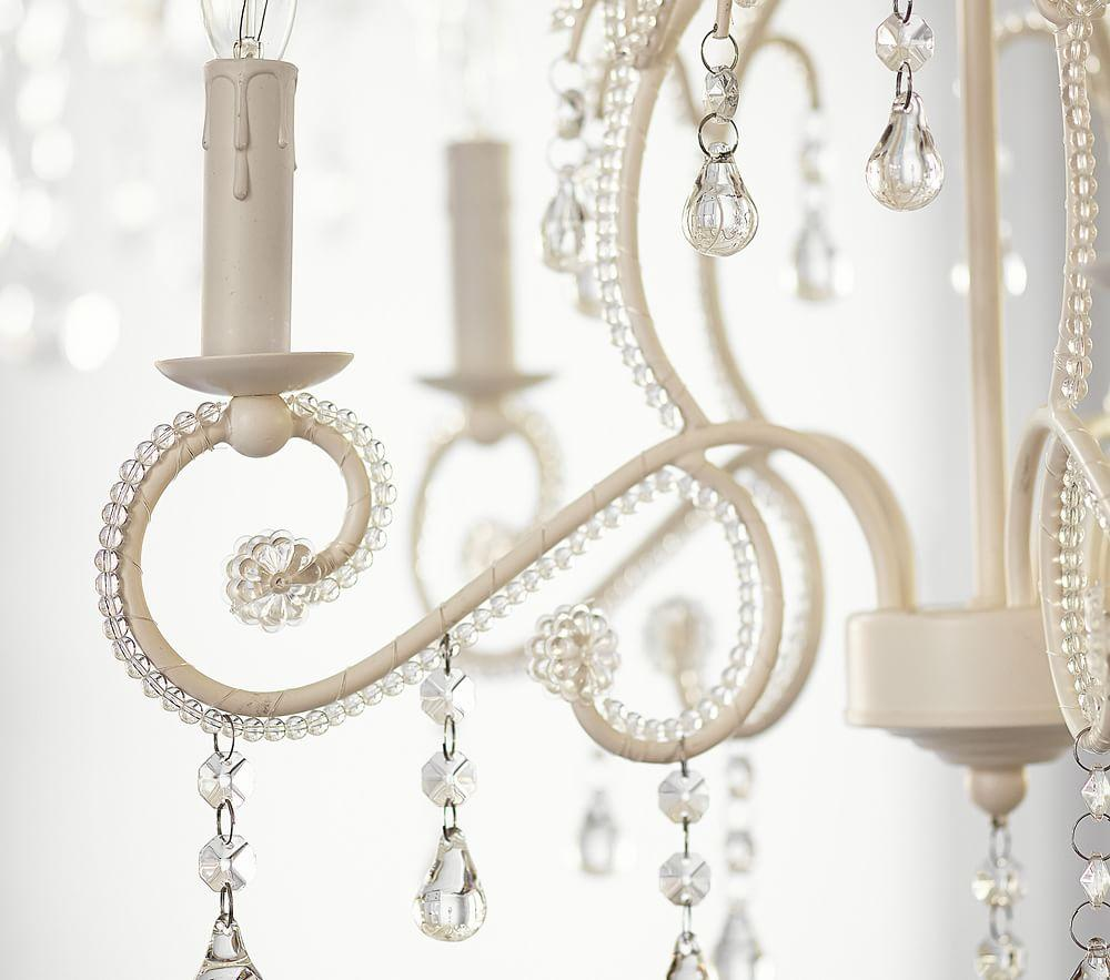 Pottery Barn Bella Chandelier Reviews: White Lydia Chandelier