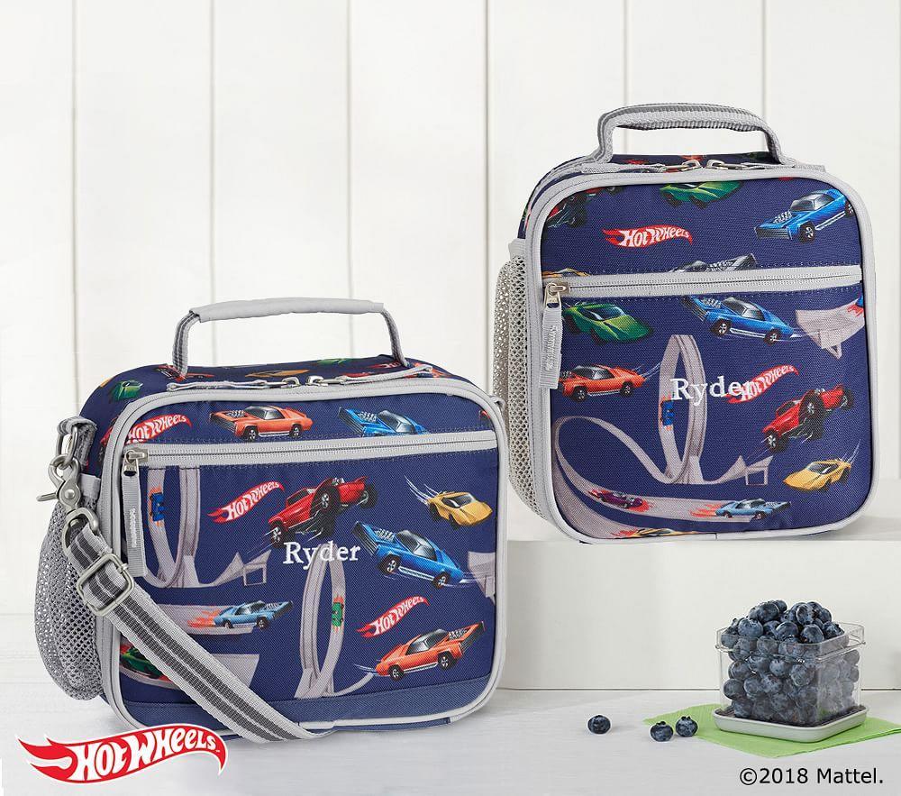 Mackenzie Grey Blue Hot Wheels® Classic Lunch Bag