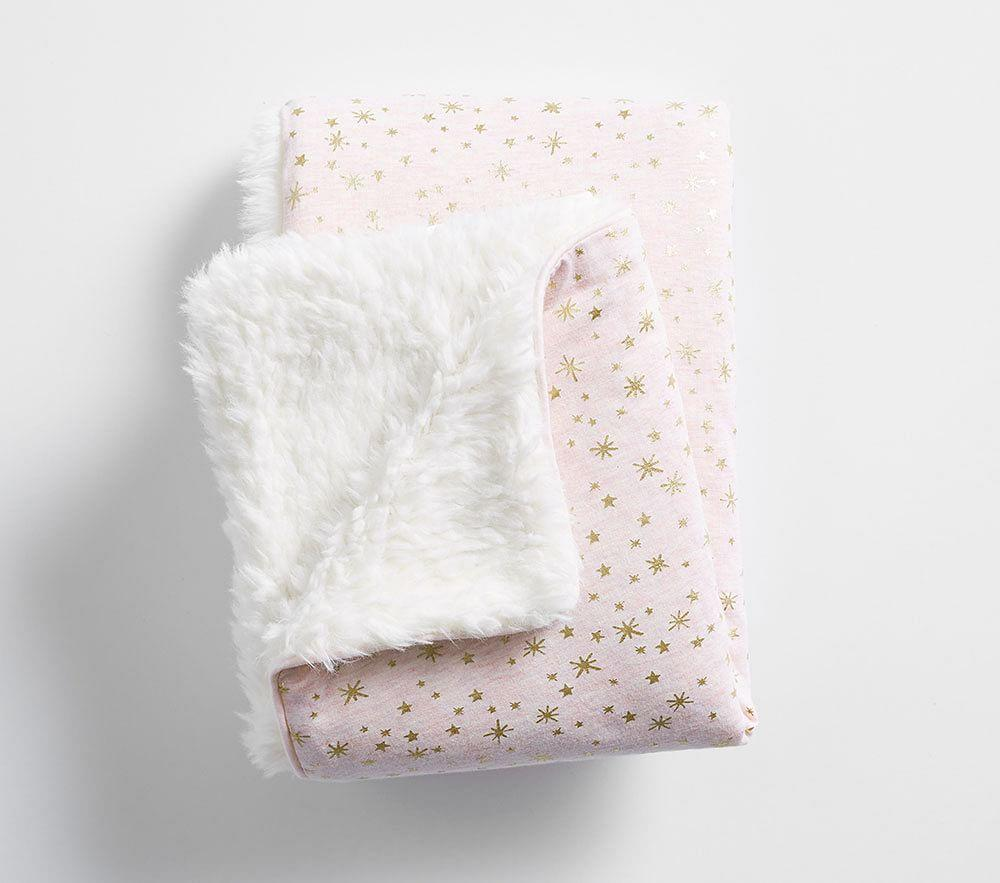 Gold Star Sherpa Baby Blanket Pottery Barn Kids Au