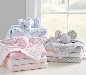 Muslin Security Blanket & Swaddle Set