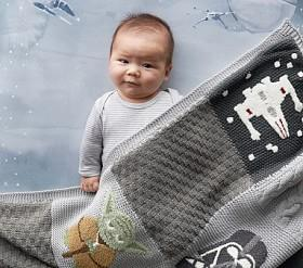 Star Wars™ Heirloom Patchwork Knit Baby Blanket