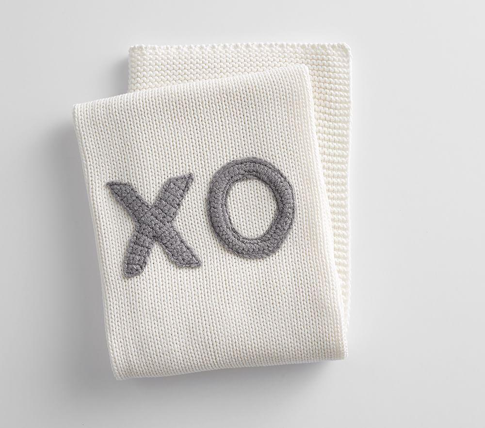 XO Knit Baby Blanket
