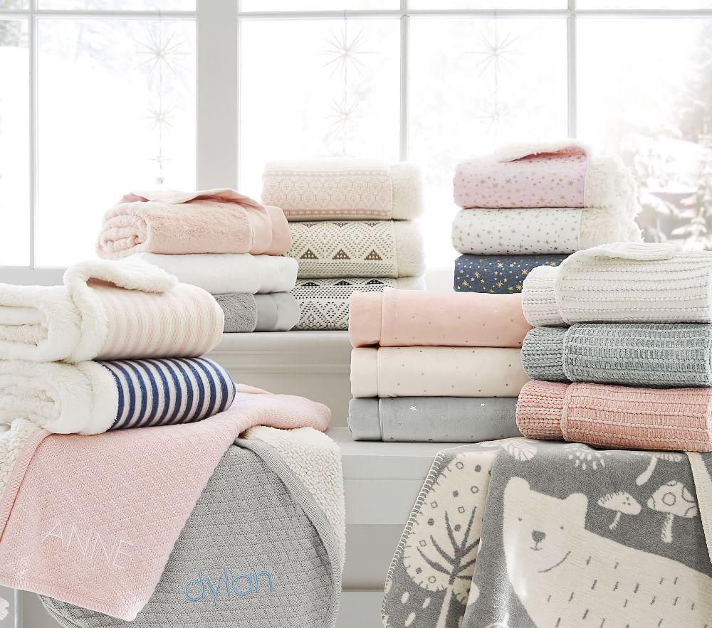 Stripe Fur Baby Blanket