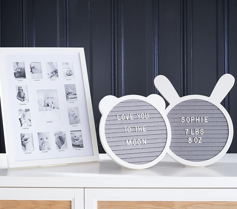 Bunny Shaped Milestone Letter Board