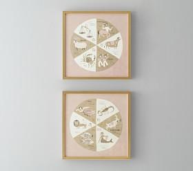 Astrology Framed Wall Art, Set of 2