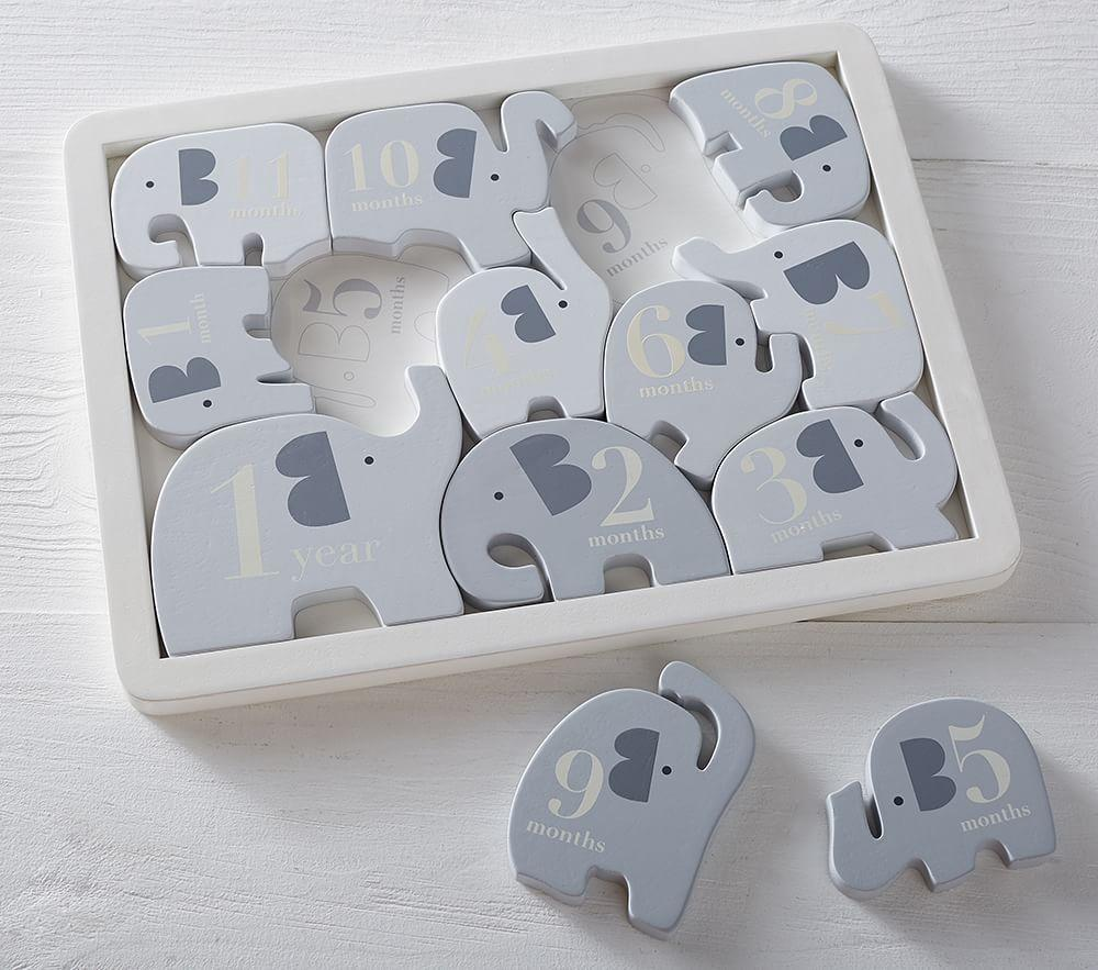 Grey Elephant Milestone Puzzle