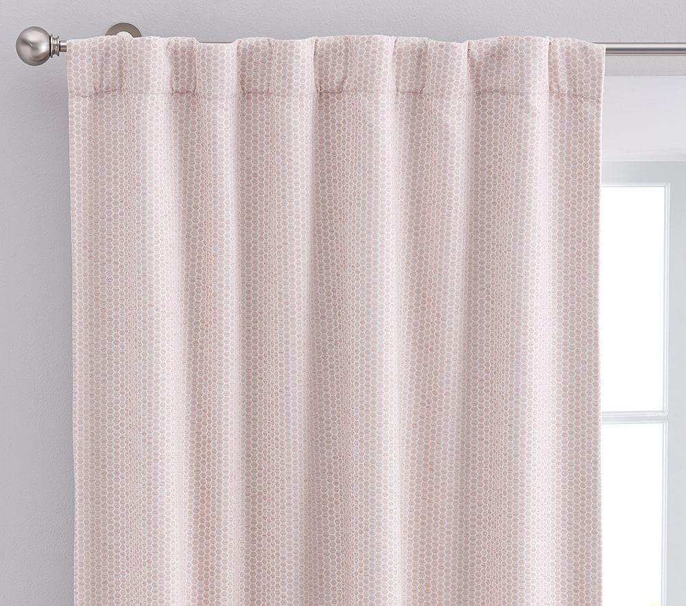 Honeycomb Jacquard Blackout Panel - Blush