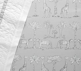 Organic Grand Safari Cot Fitted Sheet - Grey