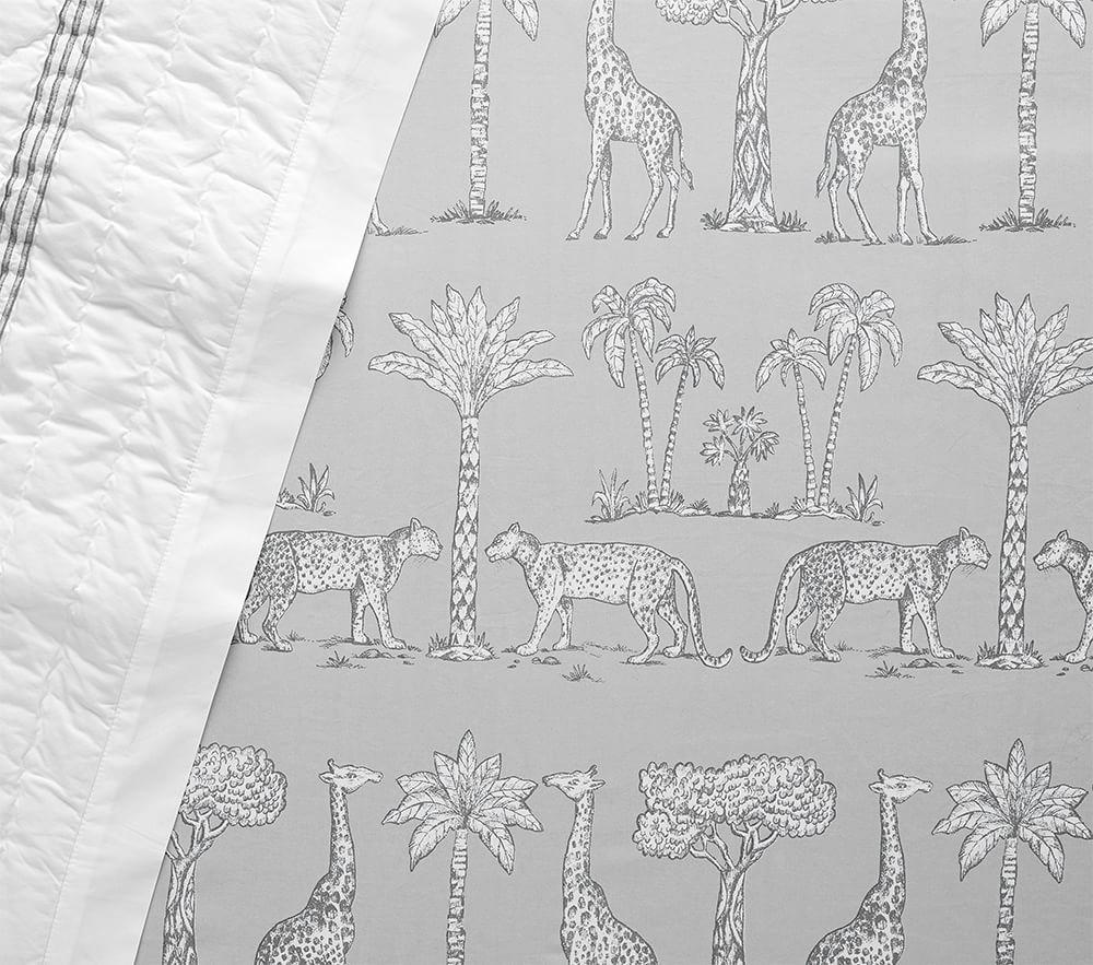 Organic Grand Safari Cot Fitted Sheet - Grey
