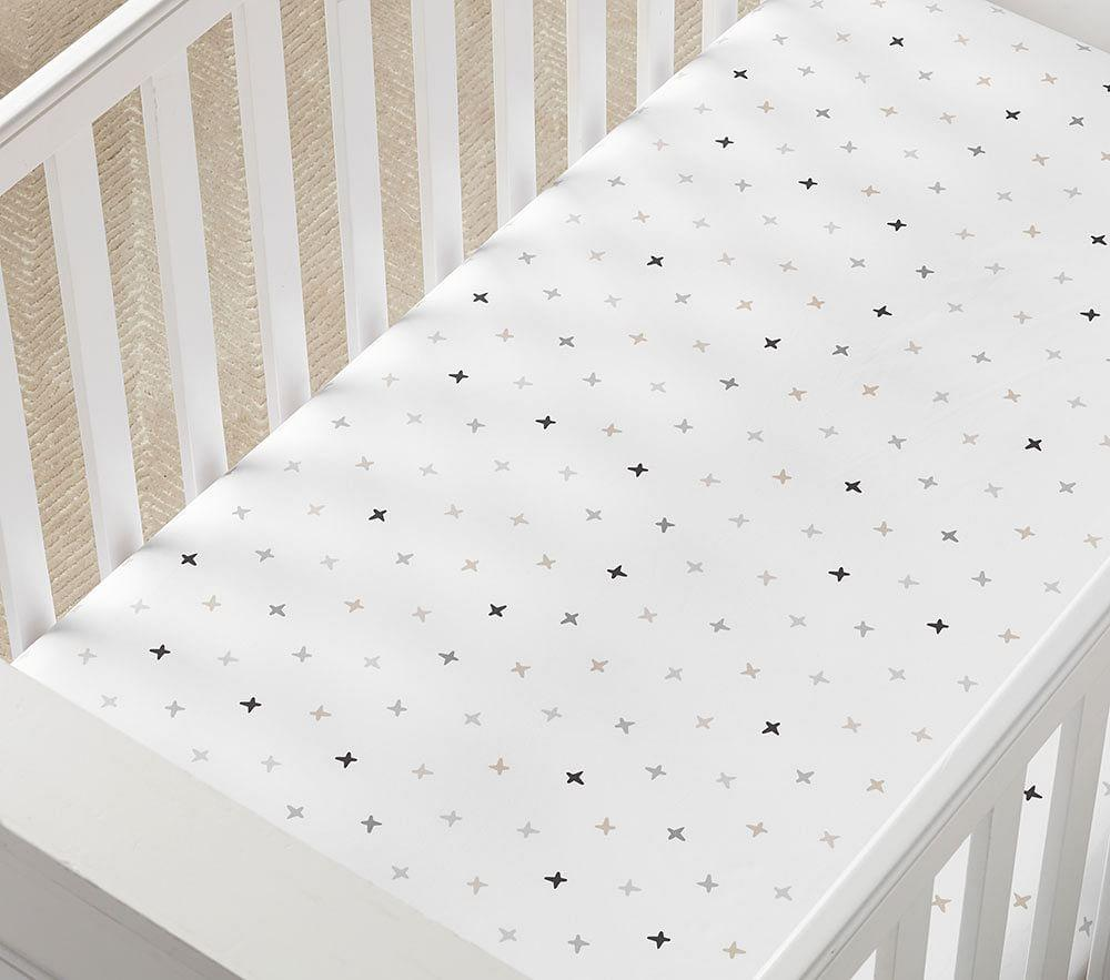 Organic Rowan Stitch Cot Fitted Sheet