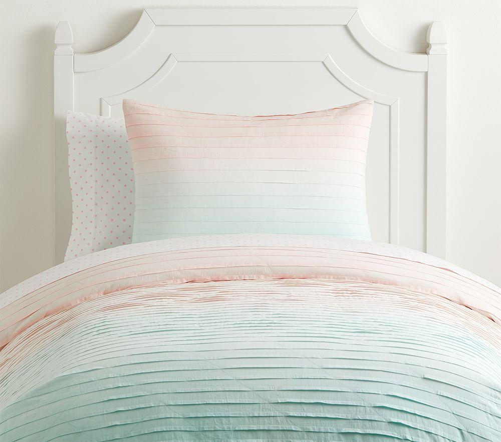 Ombre Pleated Quilt Cover