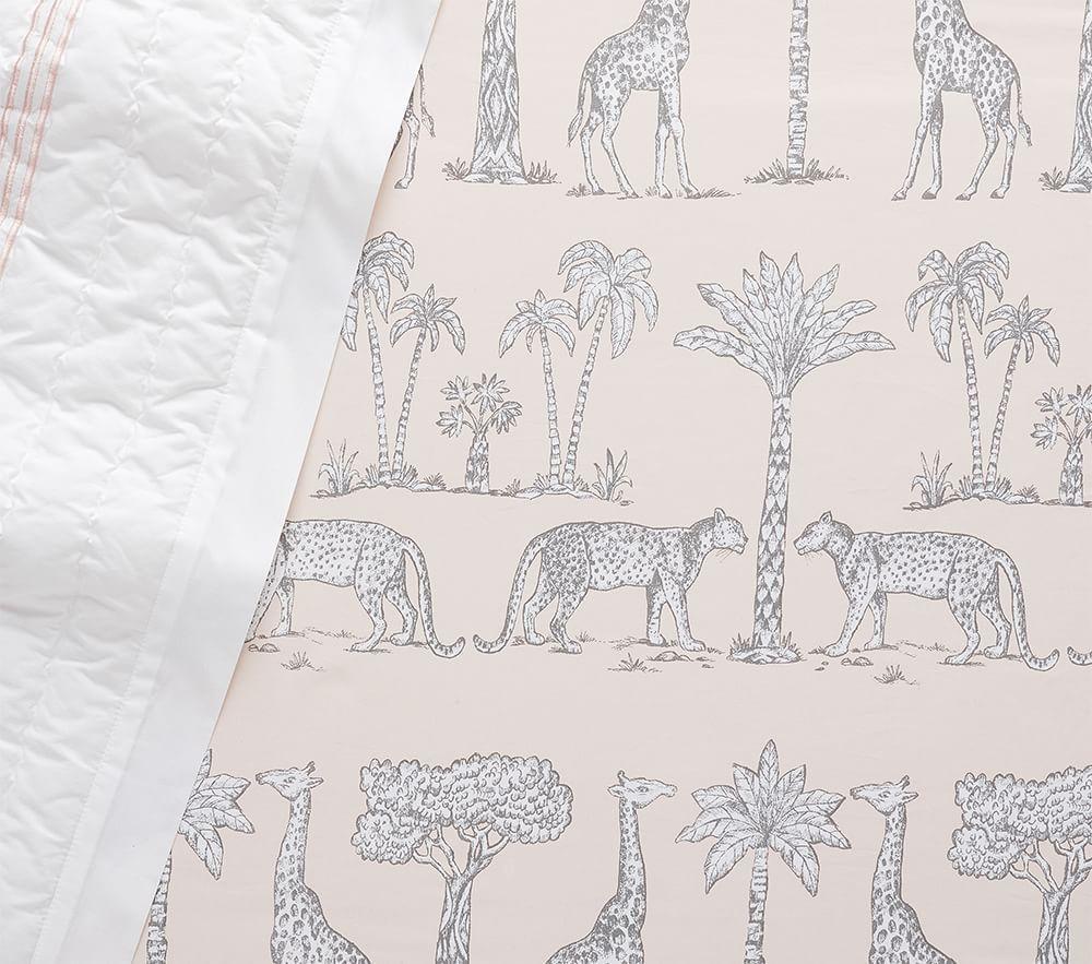 Organic Grand Safari Cot Fitted Sheet - Blush