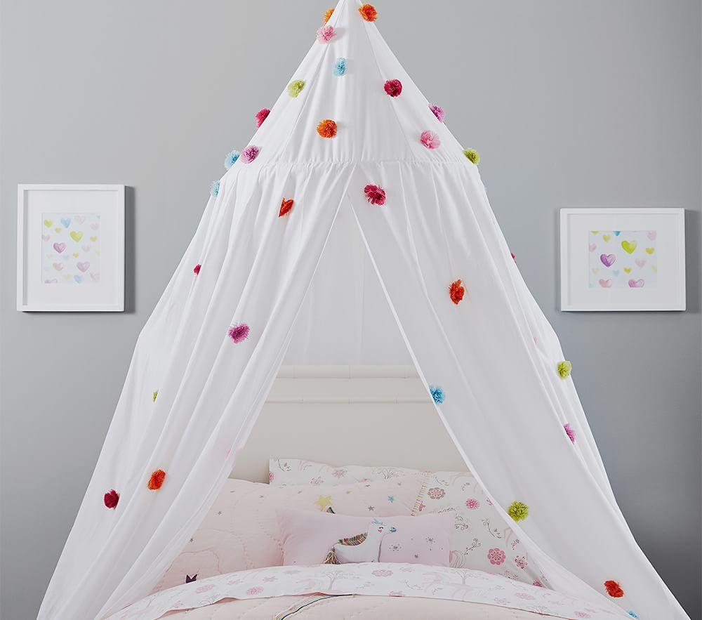 Rainbow Pom Pom Canopy