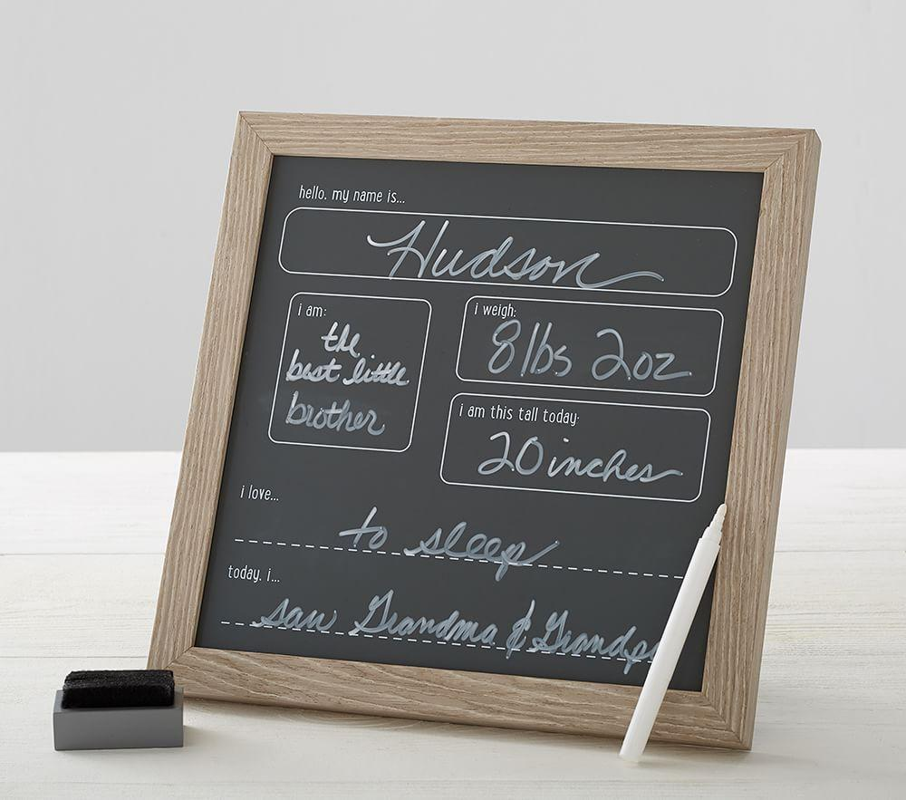 Vintage Wood Milestone Chalkboard
