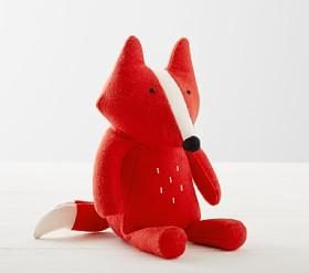 west elm x pbk Orange Fox Felted Nursery Plush