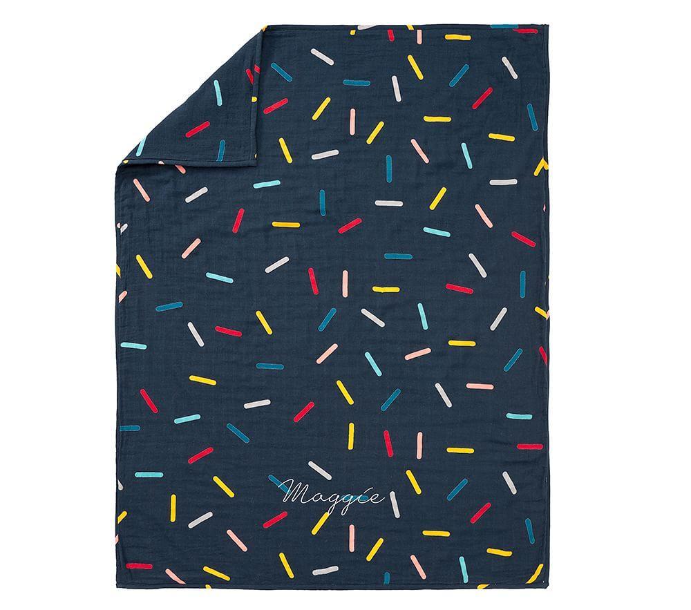 west elm x pbk Sprinkle Muslin Blanket