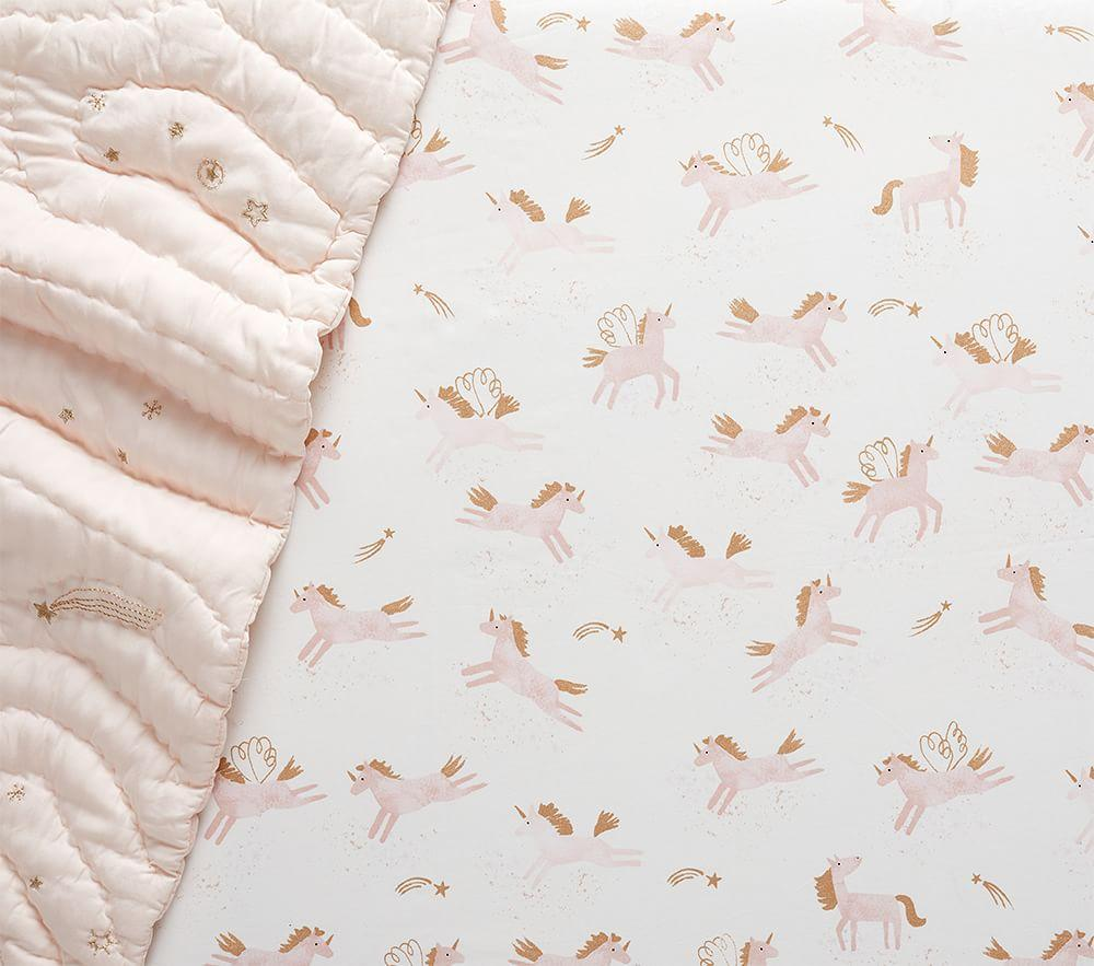 Mila Metallic Cot Fitted Sheet