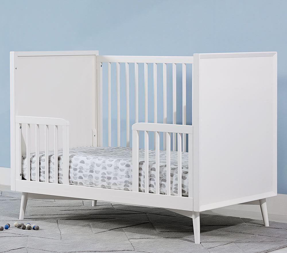west elm x pbk Mid-Century Toddler Bed Conversion Kit, White