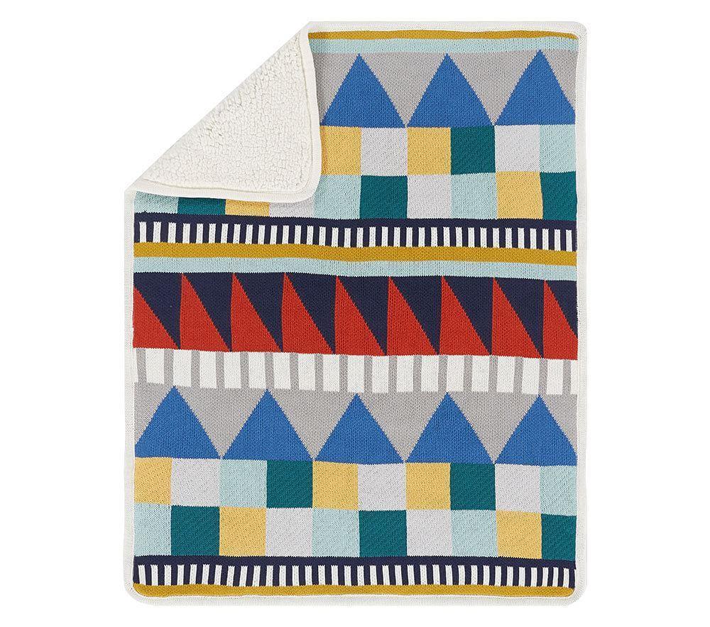 west elm x pbk Knit Cotton Geometric Baby Blanket