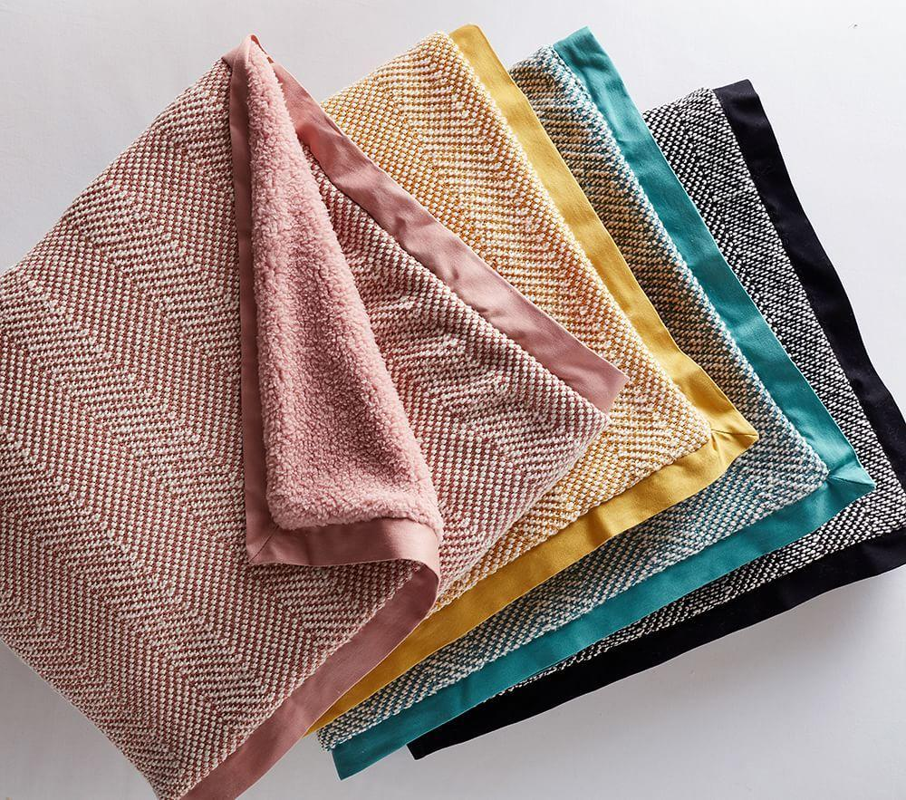 west elm x pbk Tweed Sherpa Baby Blanket