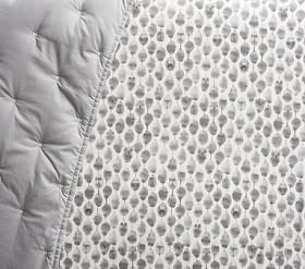 west elm x pbk Organic Stamped Owl Cot Fitted Sheet