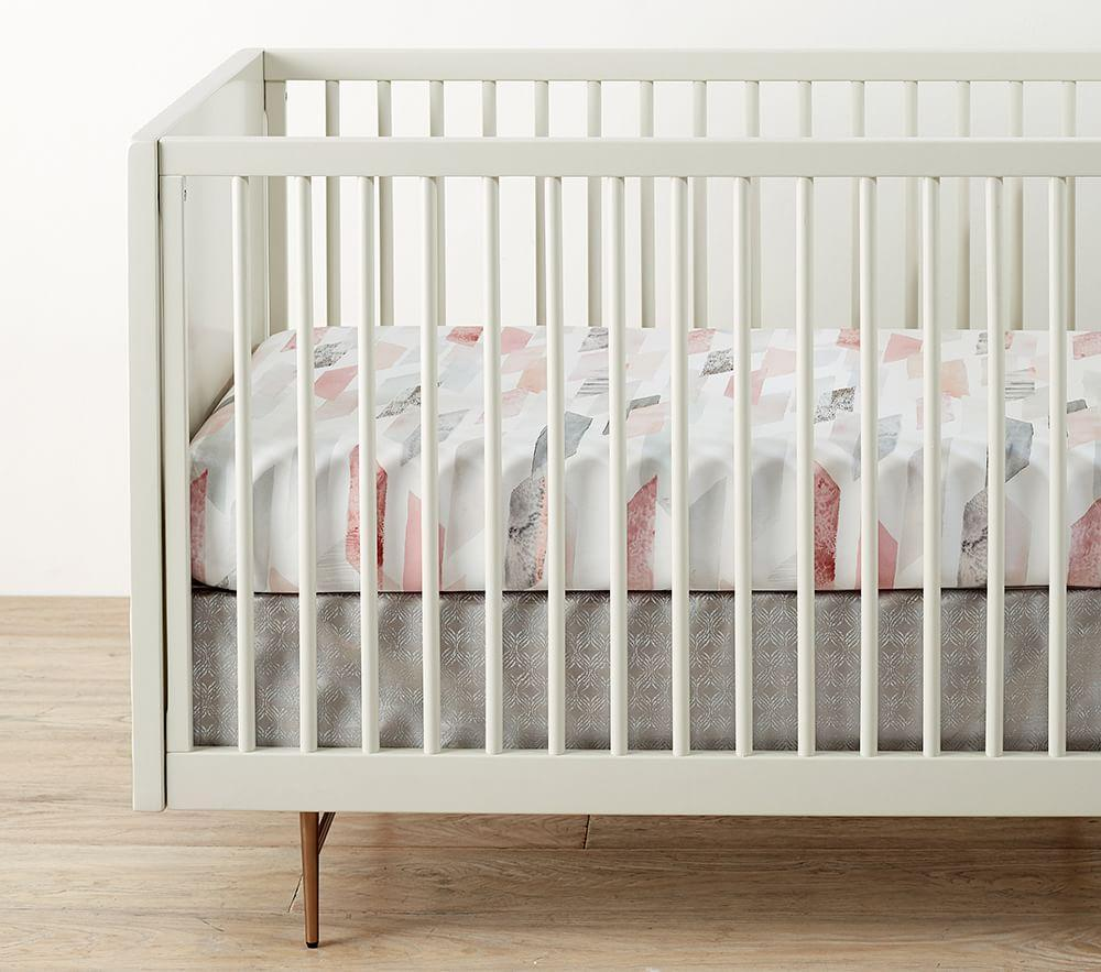 west elm x pbk Organic Crystal Geo Cot Fitted Sheet