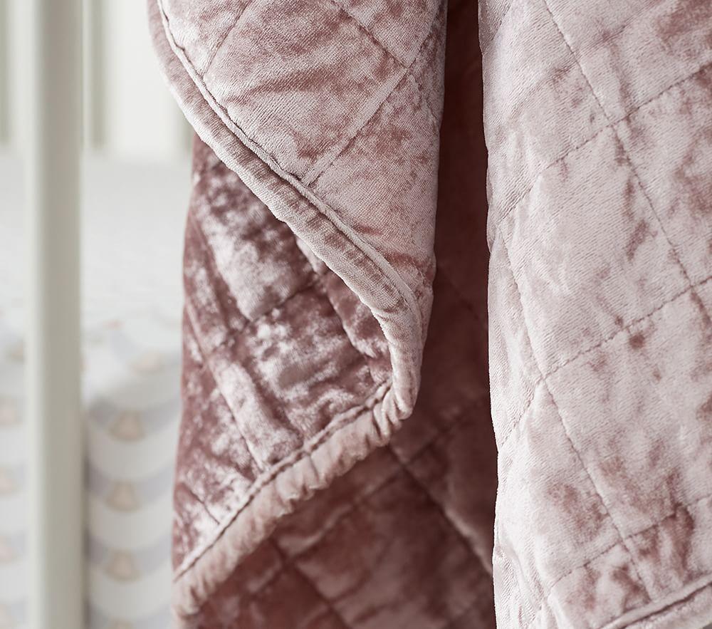 west elm x pbk Lush Velvet Baby Bed Linen