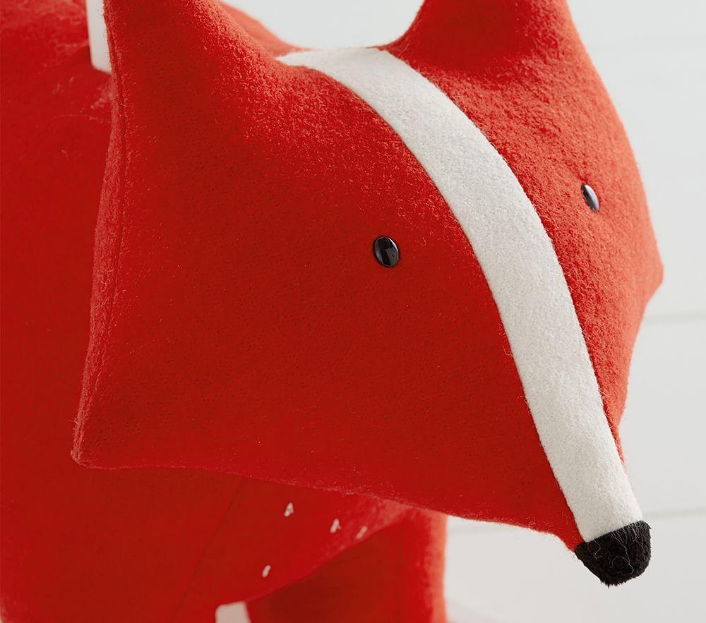 west elm x pbk Orange/White Fox Felted Nursery Rocker