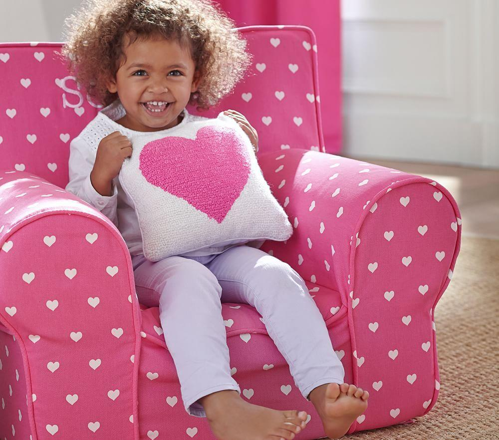 Bright Pink Heart Anywhere Chair