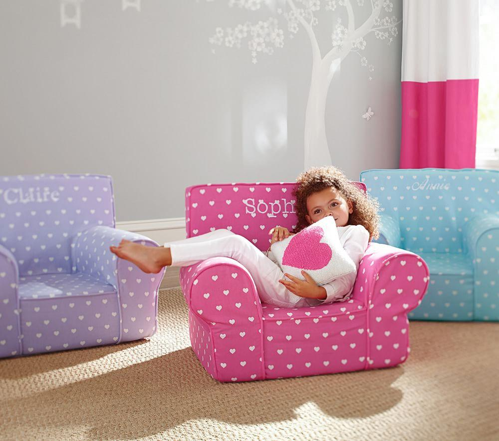 Bright Pink Heart Anywhere Chair Pottery Barn Kids Au
