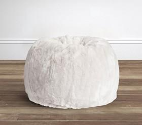 Grey Faux Fur Anywhere Beanbag™