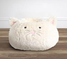Ivory Kitty Anywhere Beanbag™