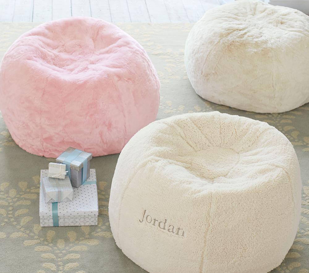 Ivory Fur Anywhere Beanbag®