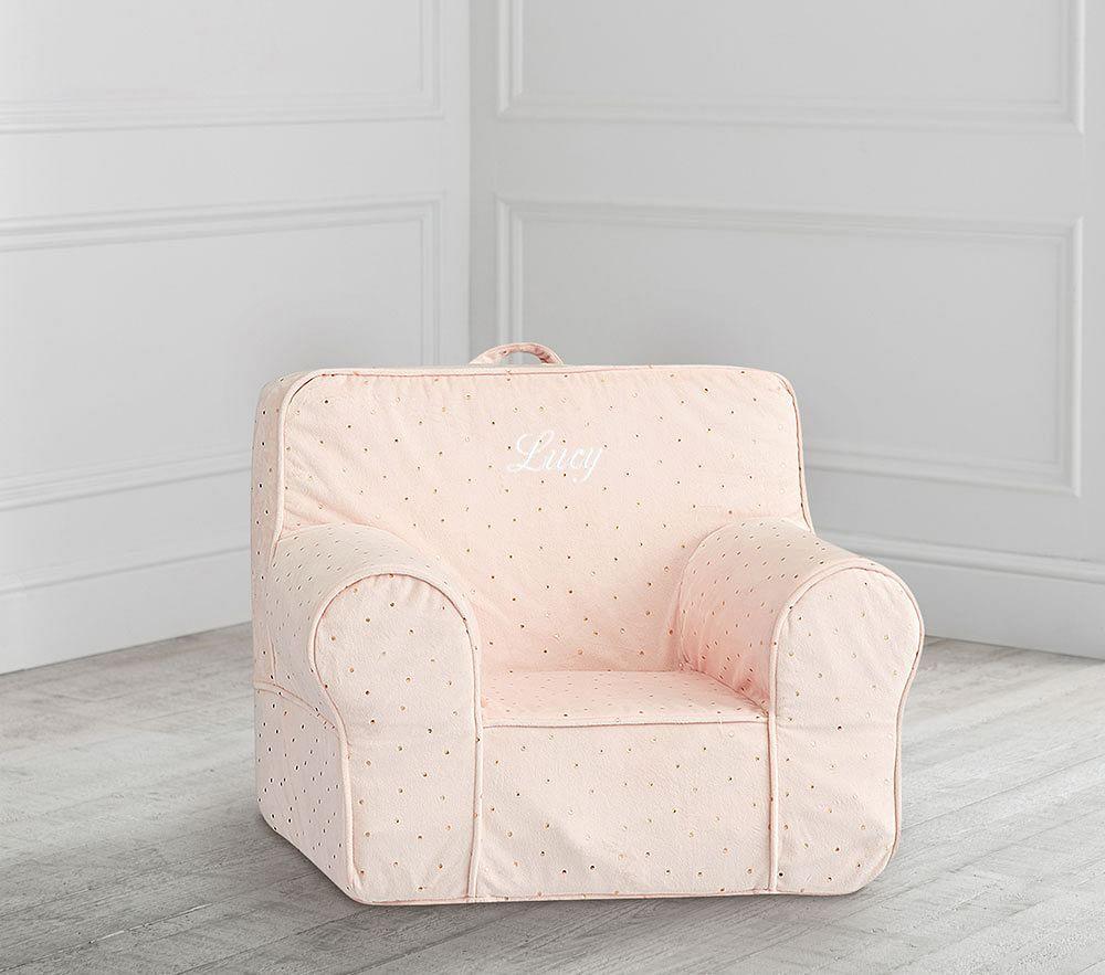 My First Blush Chamois Metallic Star Anywhere Chair®