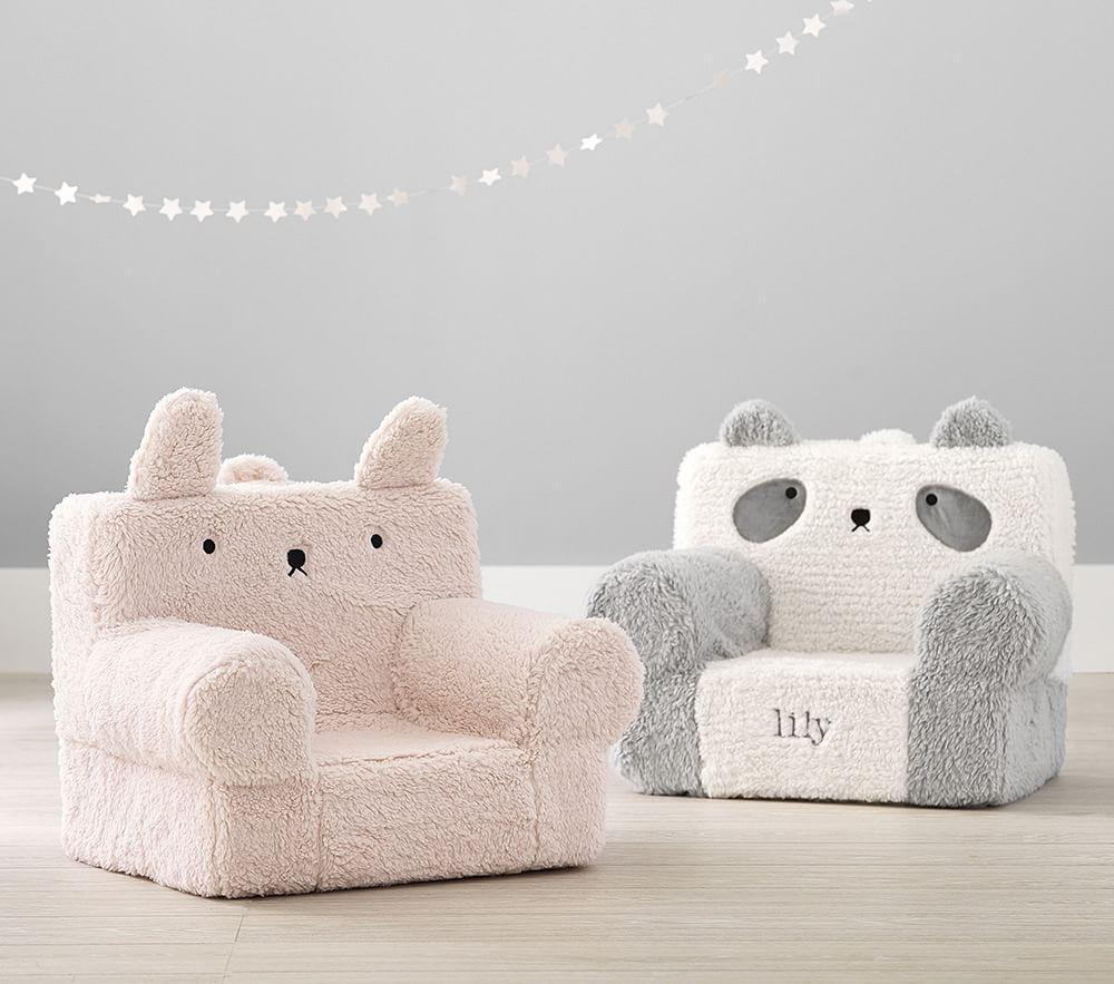 My First Blush Bunny Sherpa Anywhere Chair®