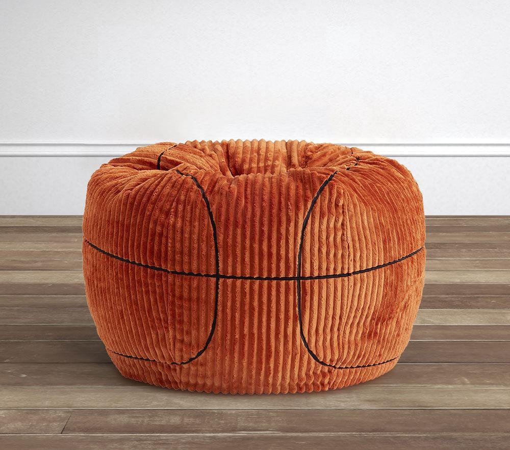 Orange Basketball Corduroy Anywhere Beanbag™
