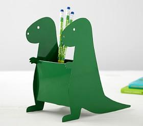 Green Dinosaur Pencil Holder