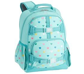 Mackenzie Aqua Multi Heart Glow-in-the-Dark Backpacks