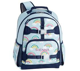 Mackenzie Light Blue Reflective Rainbow Backpacks