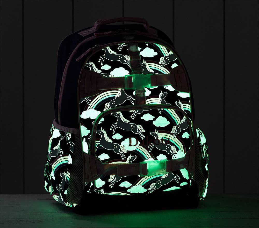 Mackenzie Navy Rainbow Unicorn Glow-in-the-Dark Backpacks