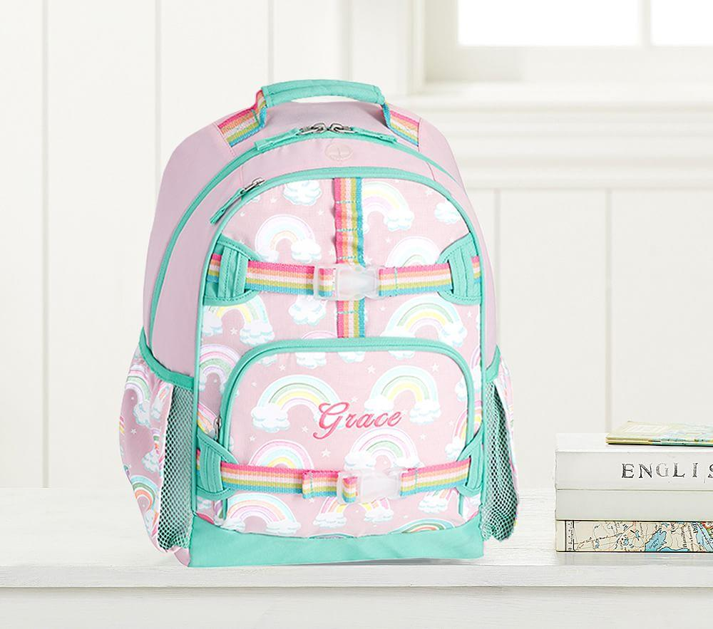 Mackenzie Pink Reflective Rainbow Backpacks