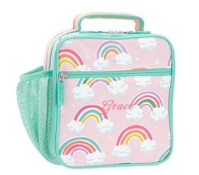 Mackenzie Pink Reflective Rainbow Lunch Boxes