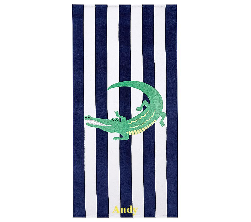 Alligator Stripe Beach Towel